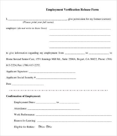 past employment verification form template hgvi