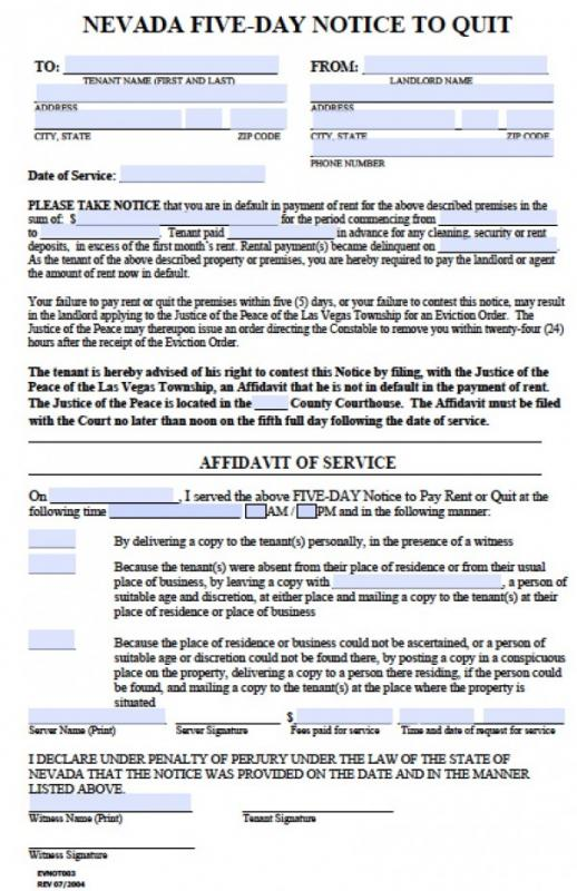 Eviction Notice Pdf Template Business