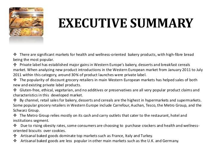 Example Executive Summary Template Business
