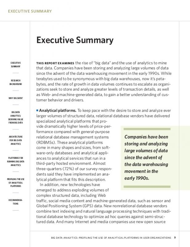 Example Of An Executive Summary Template Business