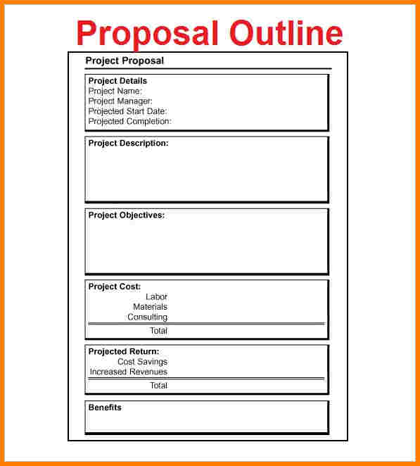 Example Of Grant Proposal Template Business - project proposal format