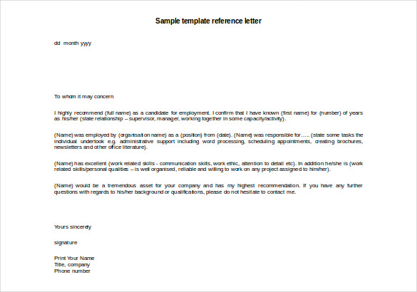 glowing recommendation letter sample - Funfpandroid