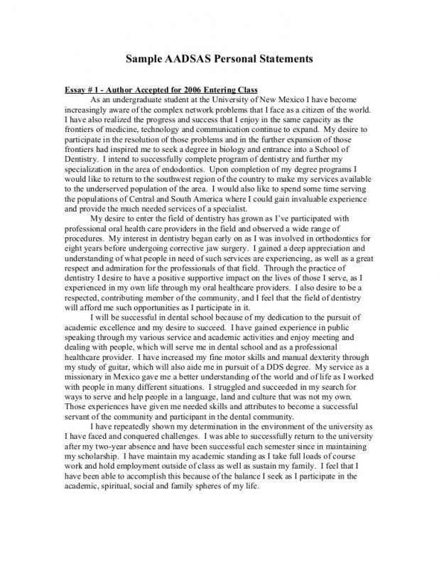 Examples Of Personal Statements Template Business - sample personal statement