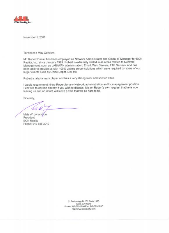 Examples Of Reference Letters Template Business - letter of reference for employee