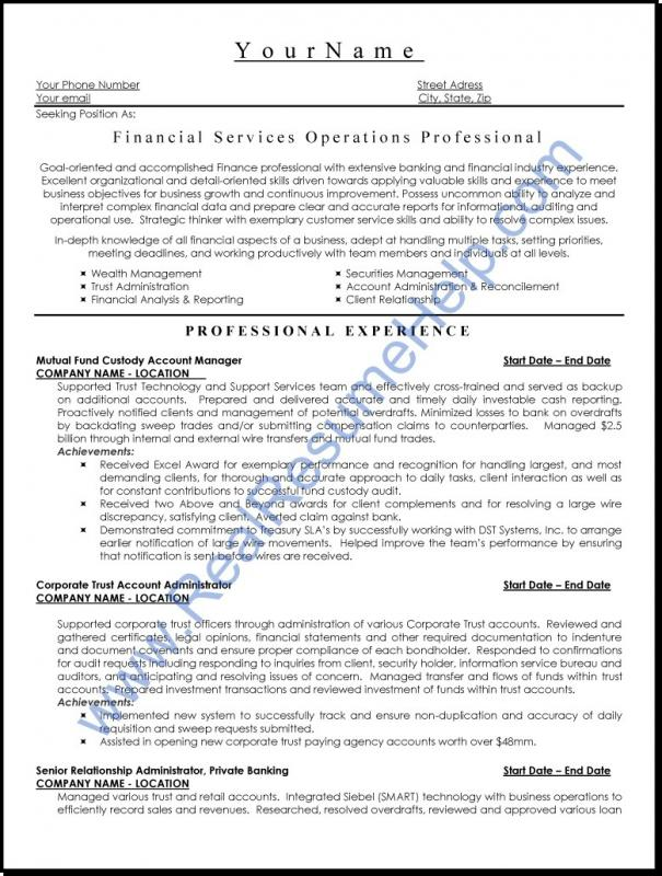 Executive Resume Template Template Business