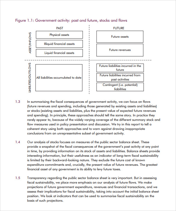 Executive Summary Report Example Template Business - sample budget summary template