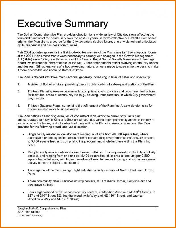 Executive Summary Template Template Business - example executive summary format