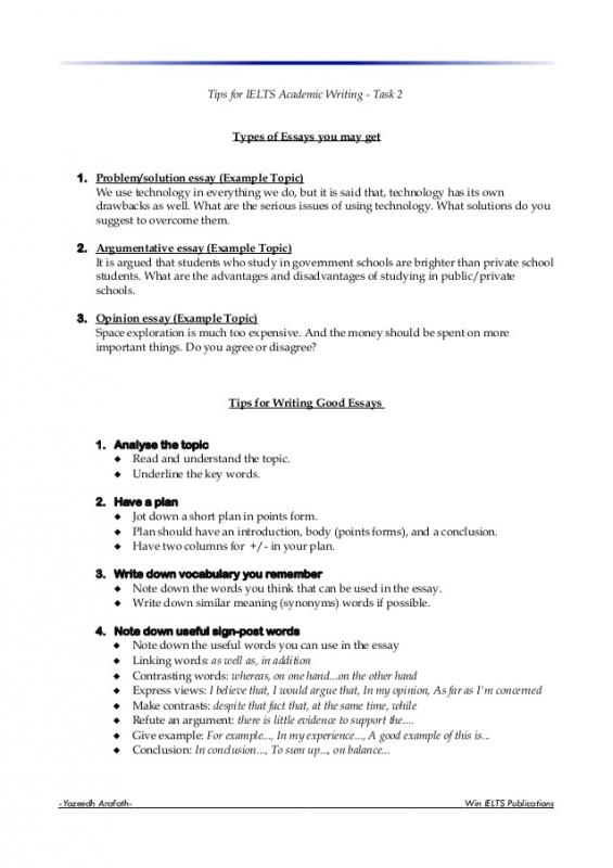 Expository Essay Format Template Business