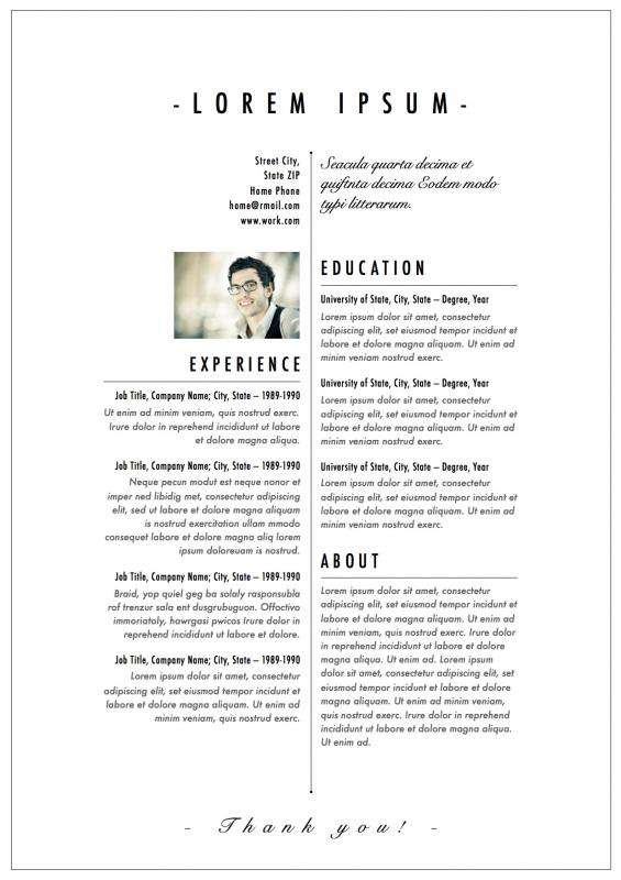 Fashion Designer Resume Template Business