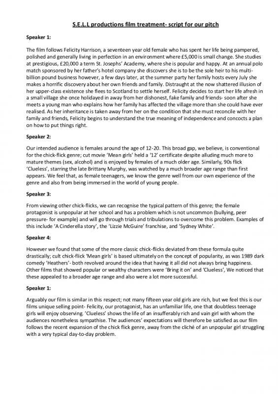 Outstanding Short Film Treatment Template Gallery - Example Resume - film treatment template