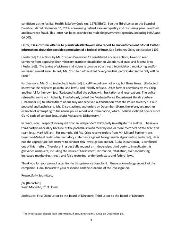 Formal Complaint Letters Template Business