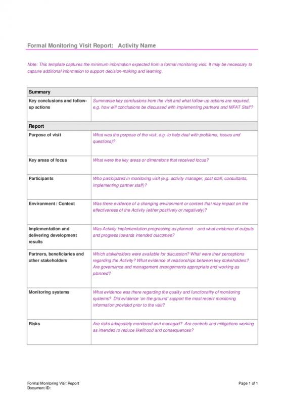 Formal Report Template Template Business - formal report template