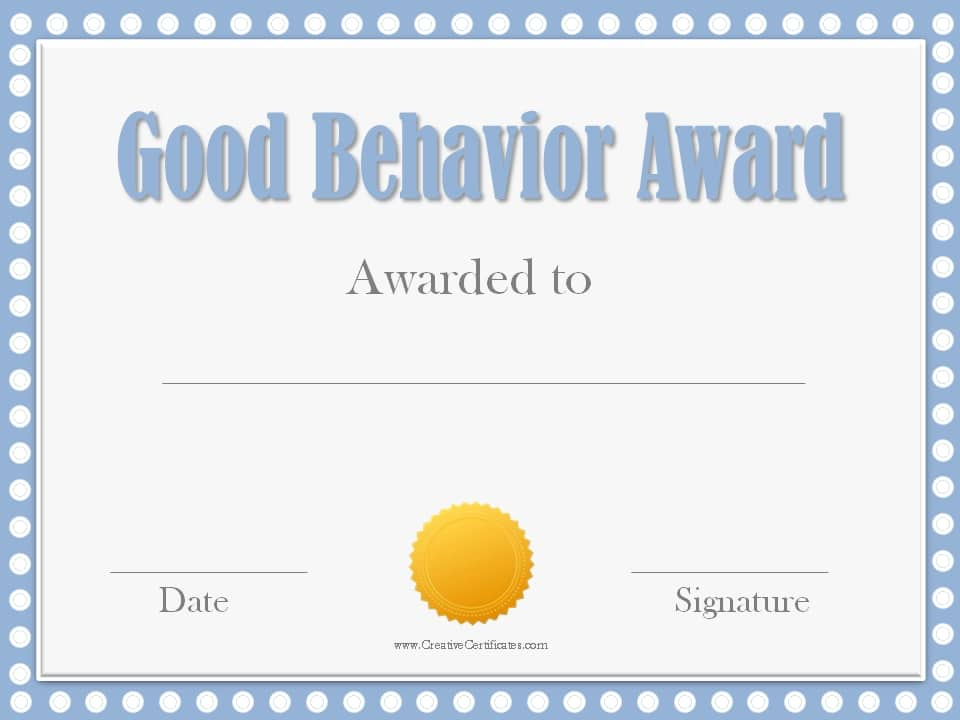 Free Award Templates Template Business