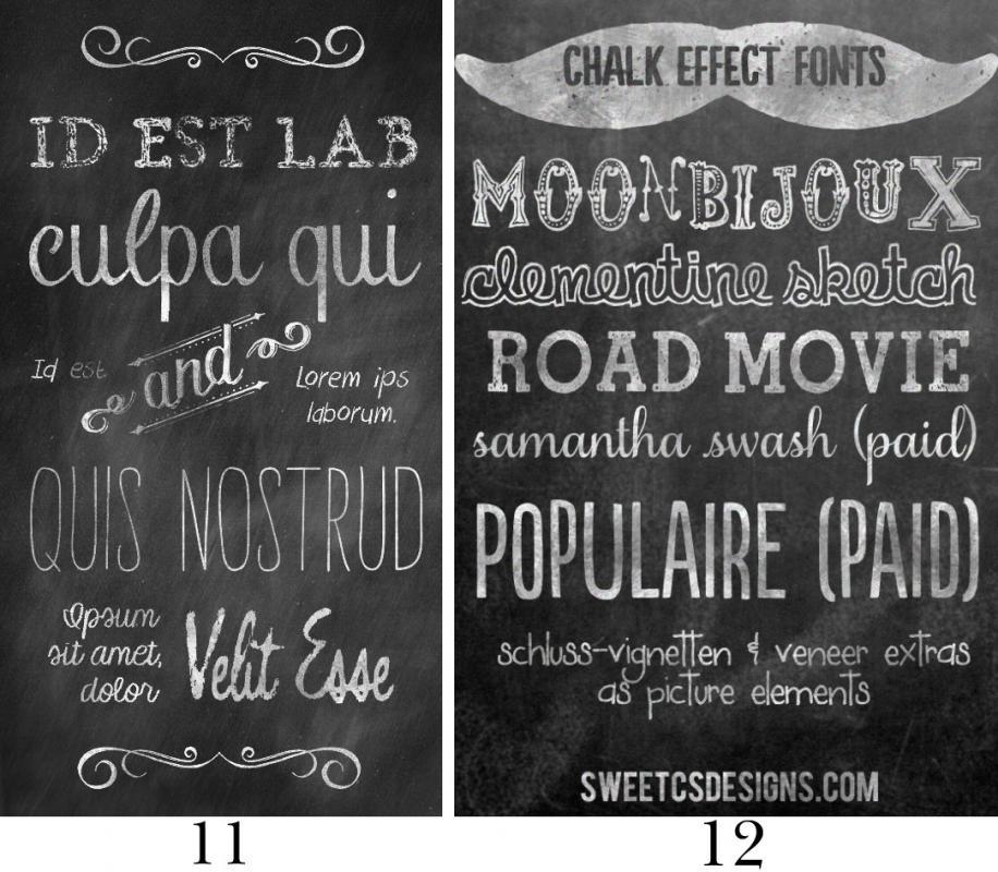Free Chalkboard Font Template Business