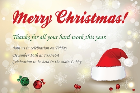 Free Christmas Party Invitations Template Template Business