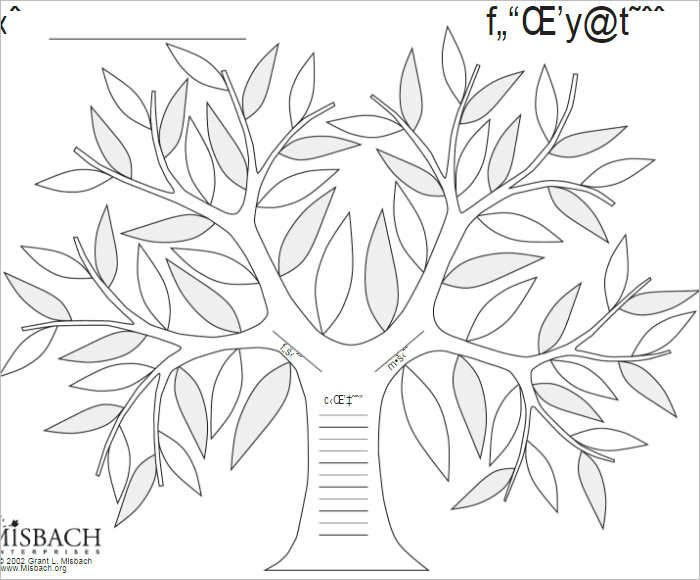 editable family tree template - Intoanysearch