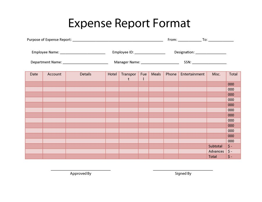 expense report form pdf - Goalgoodwinmetals - microsoft expense report