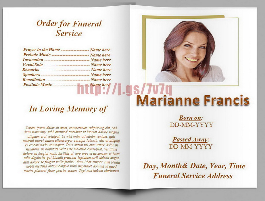 Free Funeral Program Template Download Template Business
