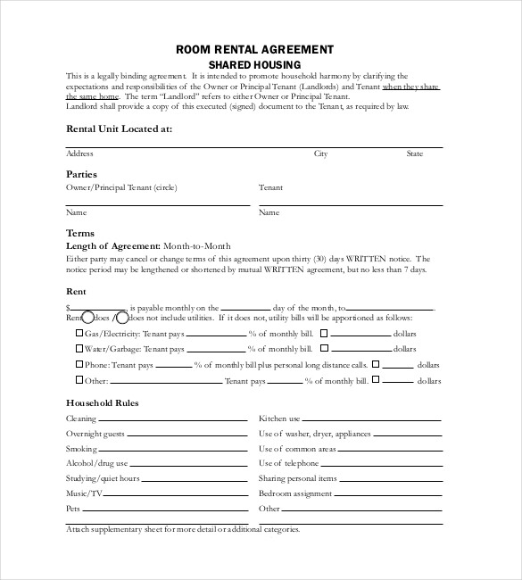 Free Lease Agreement Template Word Template Business - free rental agreement template word