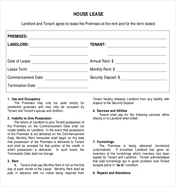 Free Lease Agreement Template Word Template Business - free lease template word