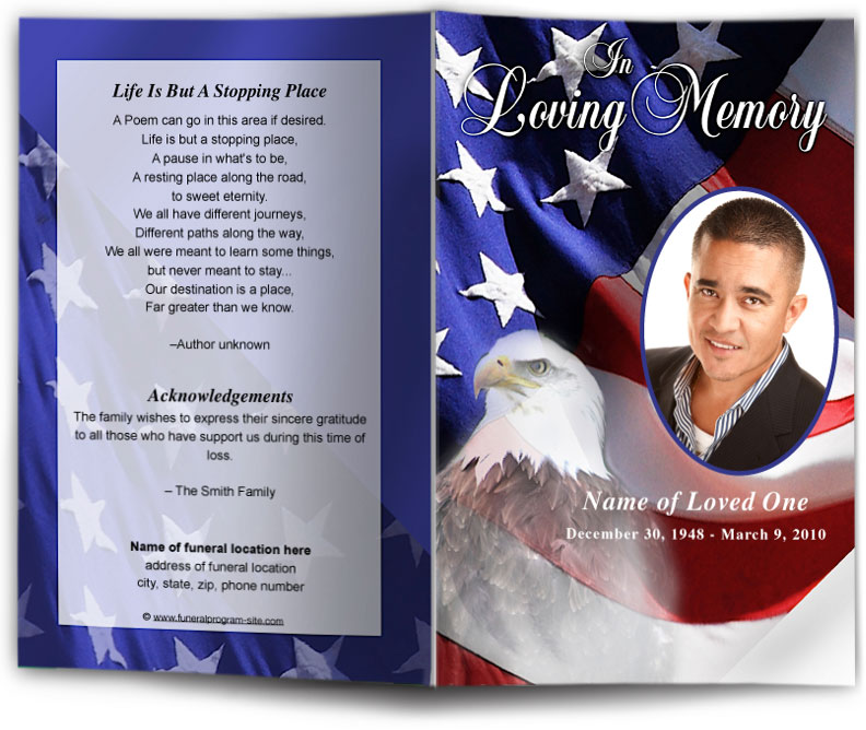 Free Memorial Service Program Template Template Business