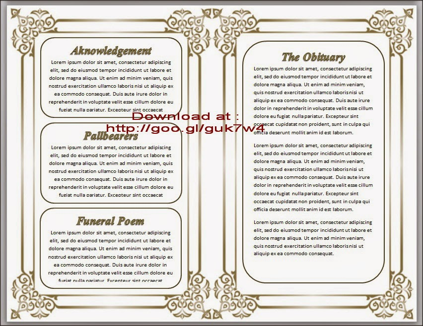 Free Obituary Program Template Download Template Business - free obituary template