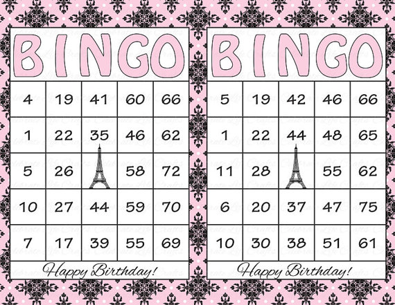 Free Printable Bingo Cards With Numbers Template Business