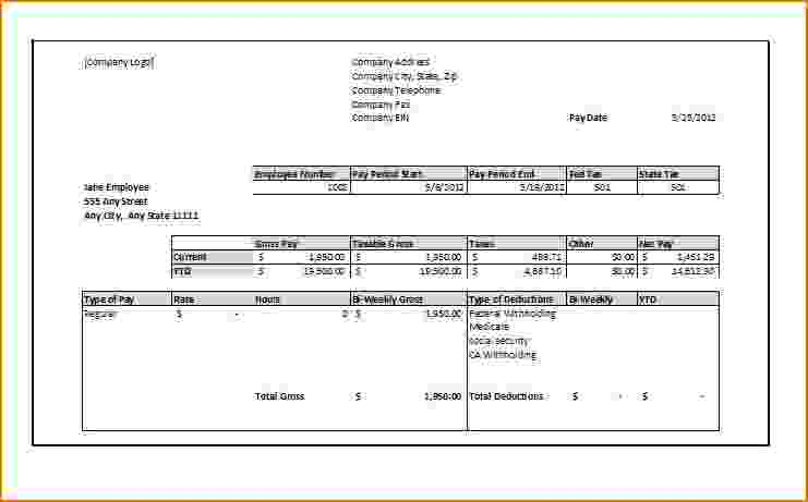 printable pay stubs online - Klisethegreaterchurch