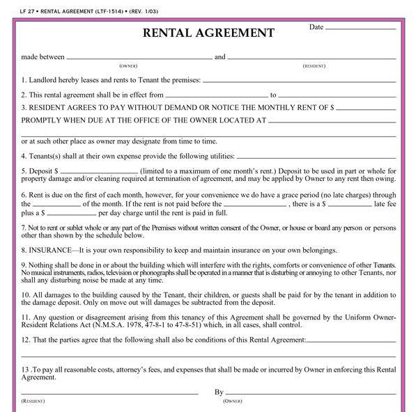 lease templates free - Josemulinohouse
