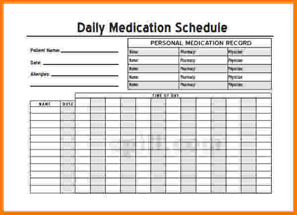 Free Printable Medication List Template Template Business