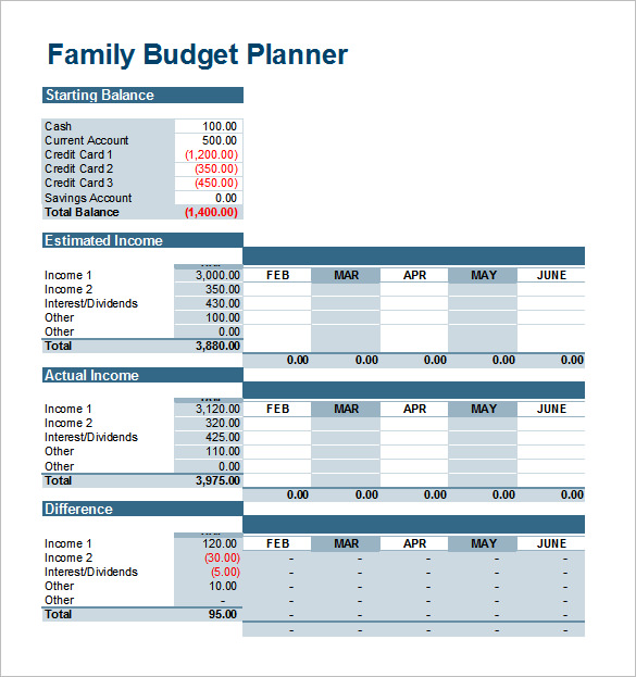 Free Printable Monthly Budget Worksheets Template Business