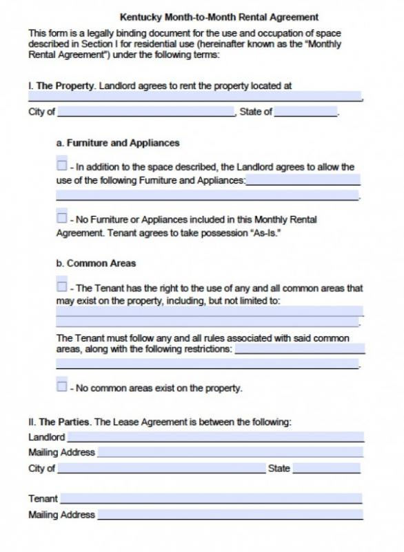 Free Printable Rental Agreements Template Business