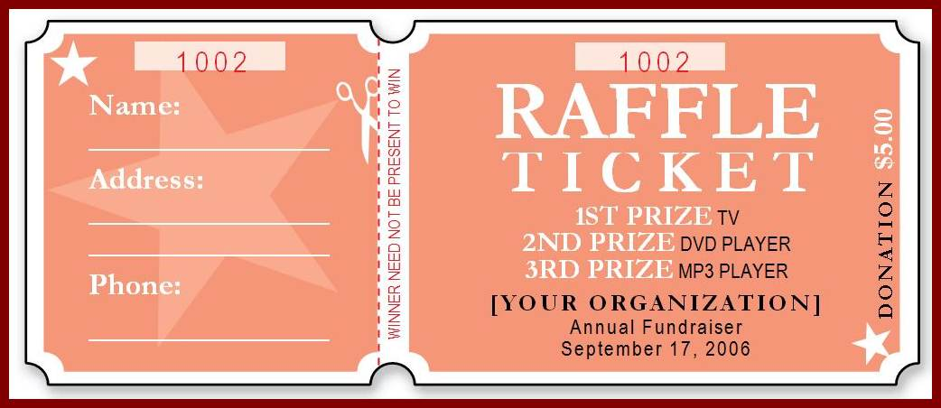 Free Raffle Ticket Template Template Business - free printable raffle ticket template