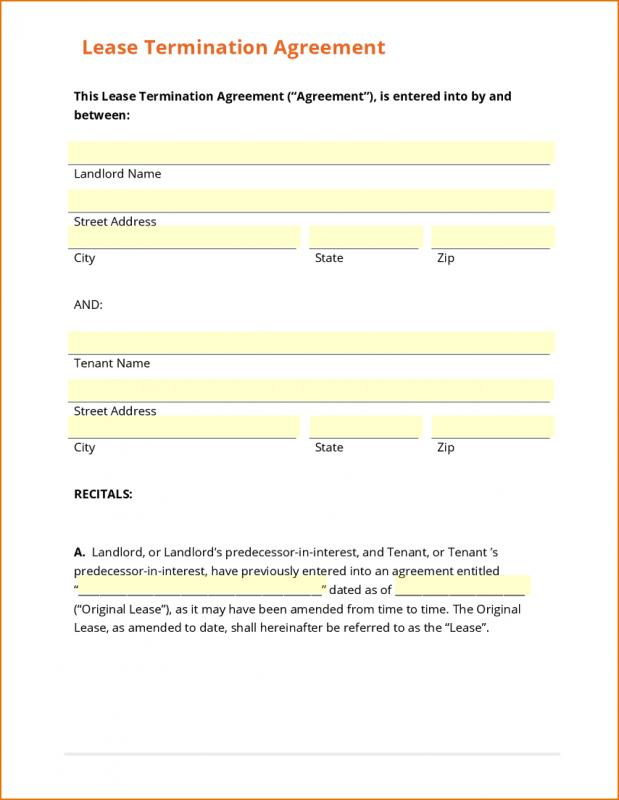 free lease termination - lease termination form