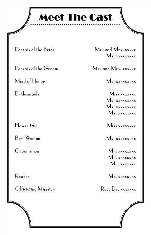 Free Wedding Program Templates Word Image collections - Template - wedding programs word template