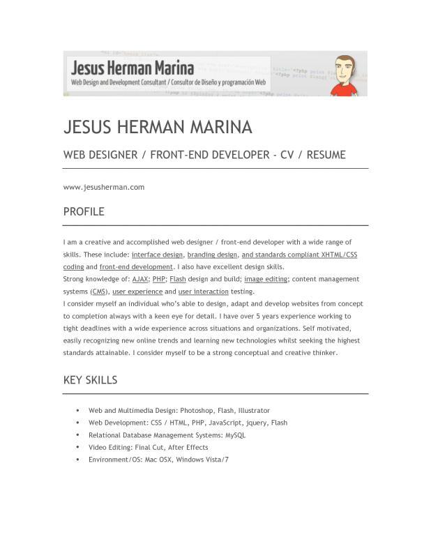front end developer resume - Onwebioinnovate - front end developer resume