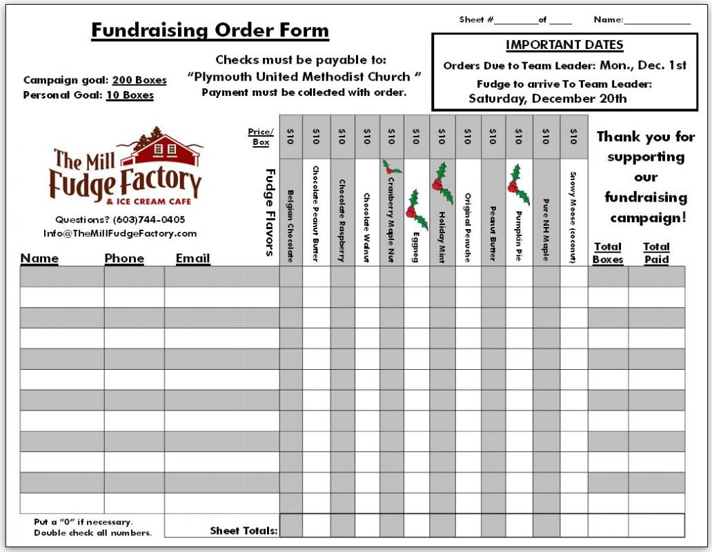 Comfortable Fundraising Order Form Templates Template Business ...