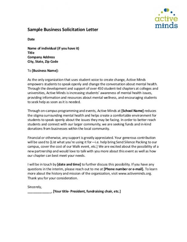Fundraising Thank You Letter Template Business