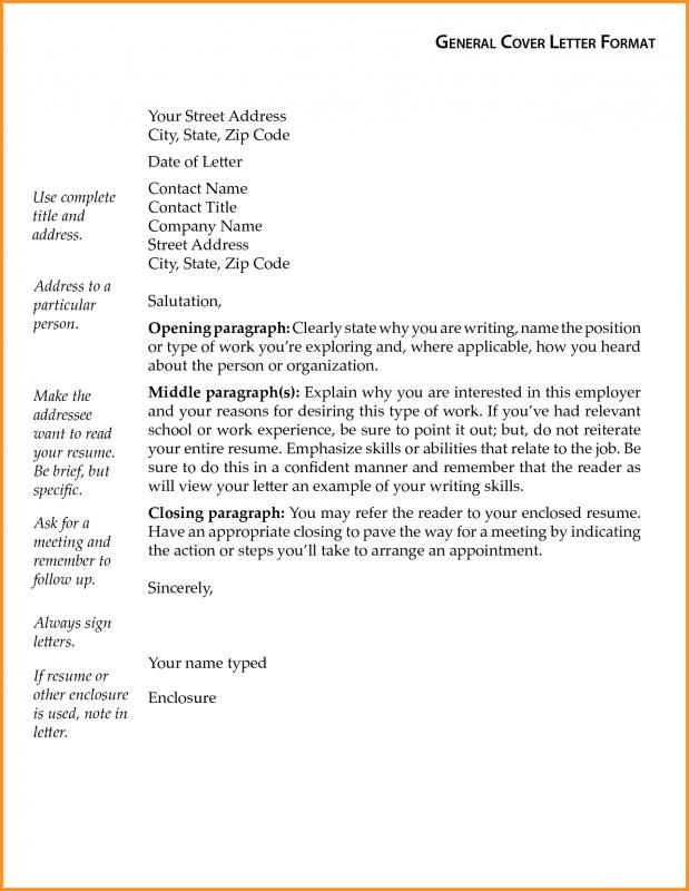 General Cover Letter Template Template Business