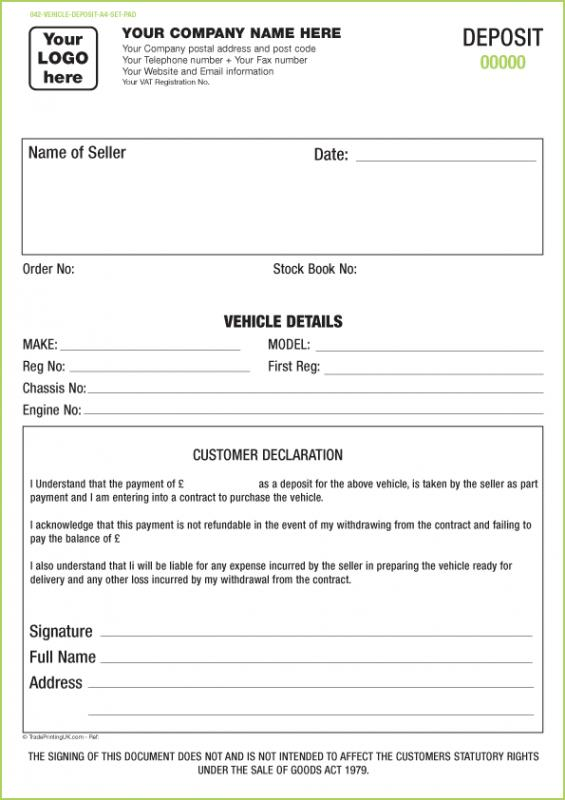 Generic Vehicle Bill Of Sale Template Business - bill of sale generic