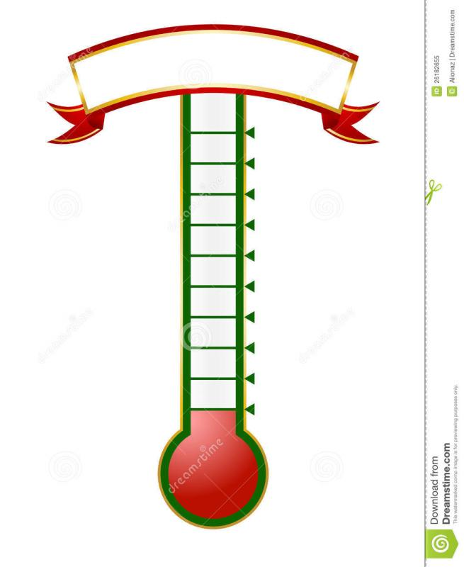 fundraising thermometer templates - Josemulinohouse - thermometer template