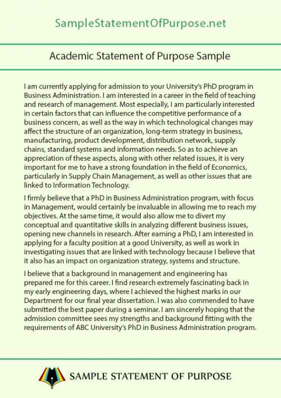 Grad School Letter Of Intent Sample Template Business - statement of purpose graduate school sample