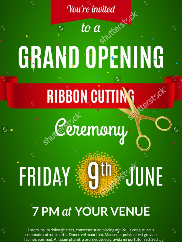 Grand Opening Flyer Template Business - Grand Opening Flyer