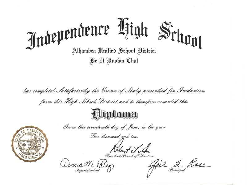 High School Diploma Template Template Business - high school diploma wording