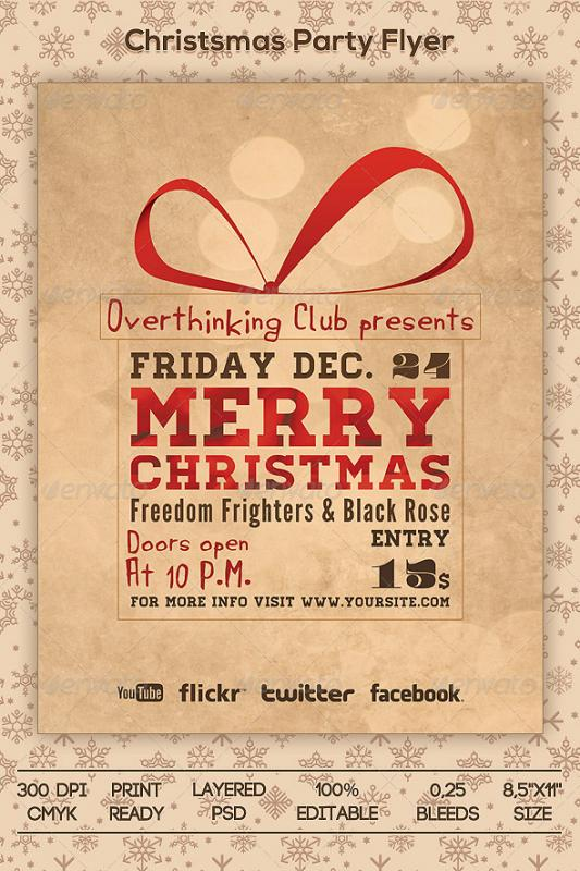 Holiday Party Flyer Template Business - holiday party flyer template