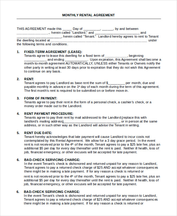 house leasing form - Selol-ink