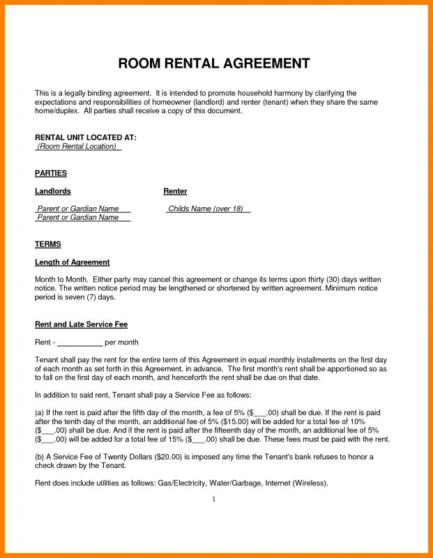 House Rental Agreement Template Template Business - Sample Rental Agreements
