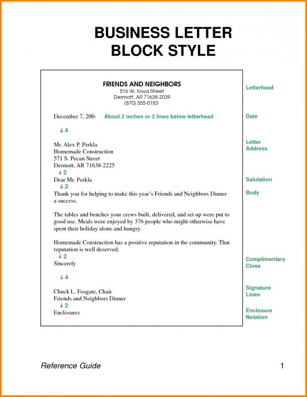 How To Write A Letter Head Template Business