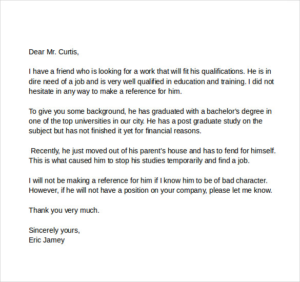 How To Write A Letter Of Recommendation For A Friend Template Business