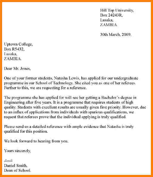 How To Write A Personal Letter Of Recommendation Template Business